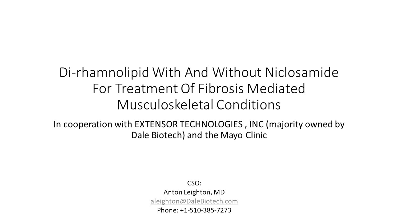 Dale Biotech - Fibrosis Mediated Musculoskeletal Conditions